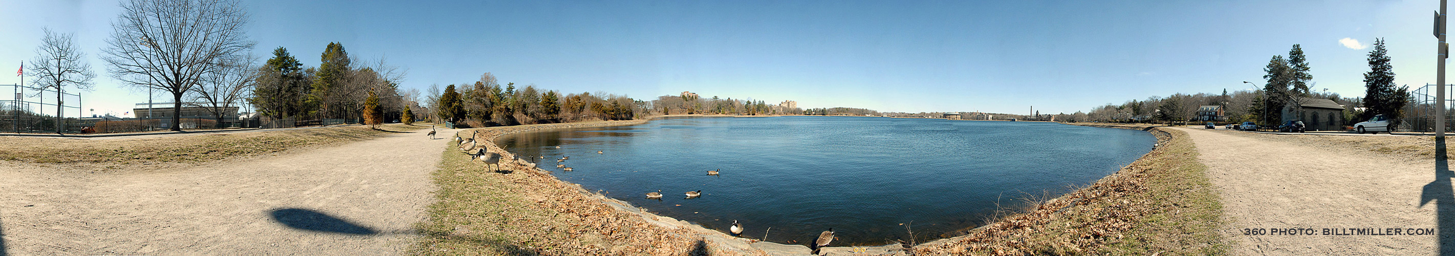 360 Panoramic of Reservoir by Bill T Miller