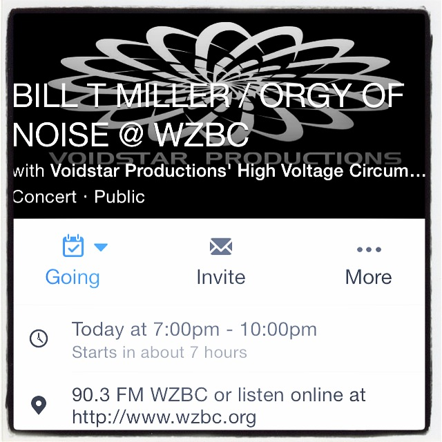 Bill T Miller - Orgy Of Noise on ZBC RADIO