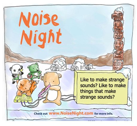 NOISE NIGHT Poster by Jeff Chenette